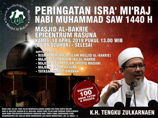 Peringatan Isra' Mi'Raj Nabi Muhammad SAW 1440 H